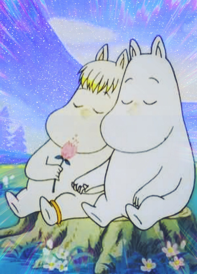 #moomins #aestheticedit #aesthetic #wallpaper #cartoon #fairytales #90s #2000s #kidcore #pastel #soft #animal #cute #love #glitchcore #blue #moomin