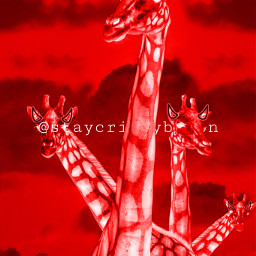 girraffe red darkart freetoedit