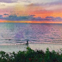 sunsetsky beachphotography freetoedit
