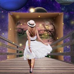 galaxy girlwalking bridge challenge freetoedit ircwhatsinthebox whatsinthebox