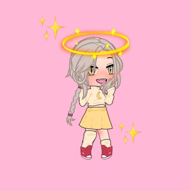 #gatchaclub #gatchalife #angel #pretty #prettyinyellow #lovinit #sparkle #braid