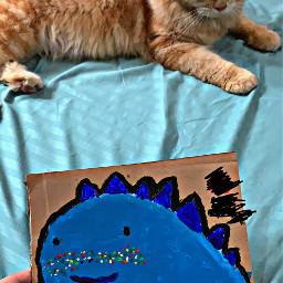 drawingbyme paint cat