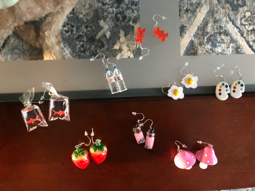 Guess who just got a ton of earrings  Its a problem really I also have plastic baby ones #wowee