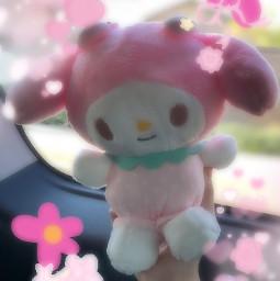 sanrio mymelody hellokitty kuromi pink indie kidcore pastel flowers spring pompompurin car freetoedit