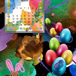 colorful eastereggs srcaprilcalendar2021 aprilcalendar2021 freetoedit