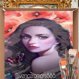 painting art girl box ircwhatsinthebox freetoedit