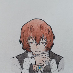 dazai osamu dazaiosamu osamudazai bsd bungoustraydogs anime animeboy animedraw animedrawing animeart