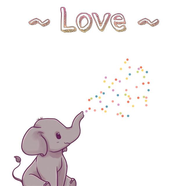 #love #elephant #babyelephant #baby #sprinkle #magic #polkadots #dots