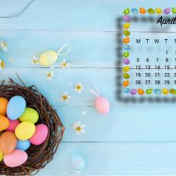 aprilcalendar april spring happyeaster easter calender monthcalender srcaprilcalendar2021 aprilcalendar2021 freetoedit
