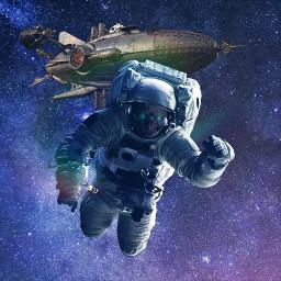 replay freetoedit space astronaut death dead skull galaxy picsart fantasy halloween halloween2021 scary horror sciencefiction