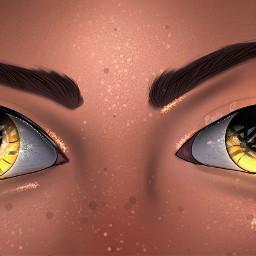 digitalart digitaldrawing eyes goldeye glitter person
