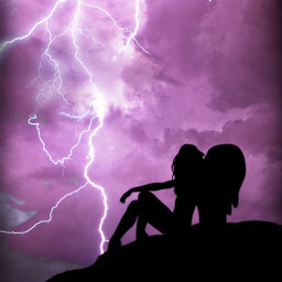 silhouette storm stormy lightning clouds cloud cloudysky sky stormclouds angel angelsilhouette purple purpleaesthetic aesthetic aestheticbackground background electric electricity purplesky purpleclouds girlsillhoute silhouettes thunderstorm thunder night freetoedit
