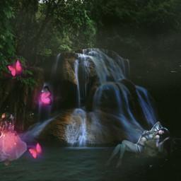 fairytales fantasy waterfall edit 365world freetoedit