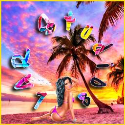 larstudios profilepic sunset beach textart freetoedit