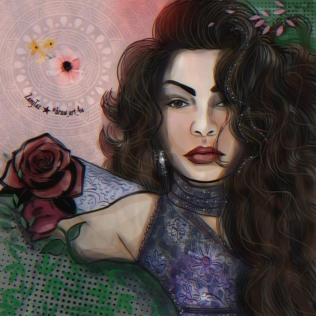 SEV #portrait of @sevcanss1905 #beauty #illustration #hairart #woman  Finished #digitalart #mixedmedia #art #drawnbyme #madewithpicsart #colors #freetoedit