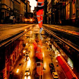 remix remixed replays replay photography photo picsart edit art reflection orange city night lights car creative freetoedit foryou foryoupage interesting travel