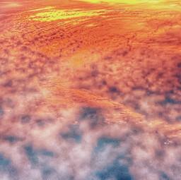 fire sky cloudyday