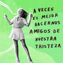 arte collage collageart tristeza green risa felicidad frase poesía freetoedit