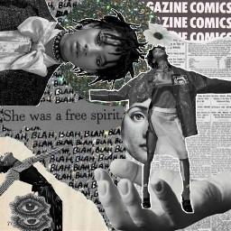 collage digitalcollage blackandwhite aesthetic paper sticker willowsmith fashion photos vogue art freetoedit