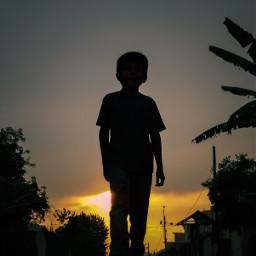sunset freetoedit silhouette