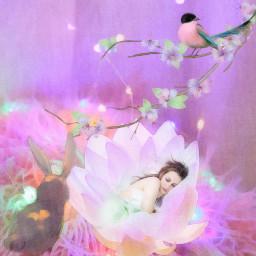fantasy pastel springtime freetoedit
