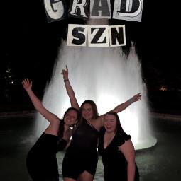 graduation college fun sec fountain party people night interesting georgia uga athens atlanta atlantaga freetoedit
