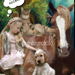 girl animals love fcexpressyourself expressyourself freetoedit