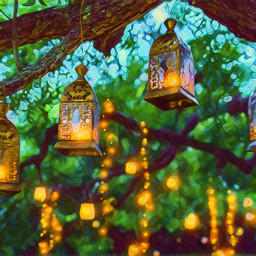 lanterns garden gardenparty freetoedit