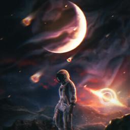 freetoedit astronaut galaxy space planet