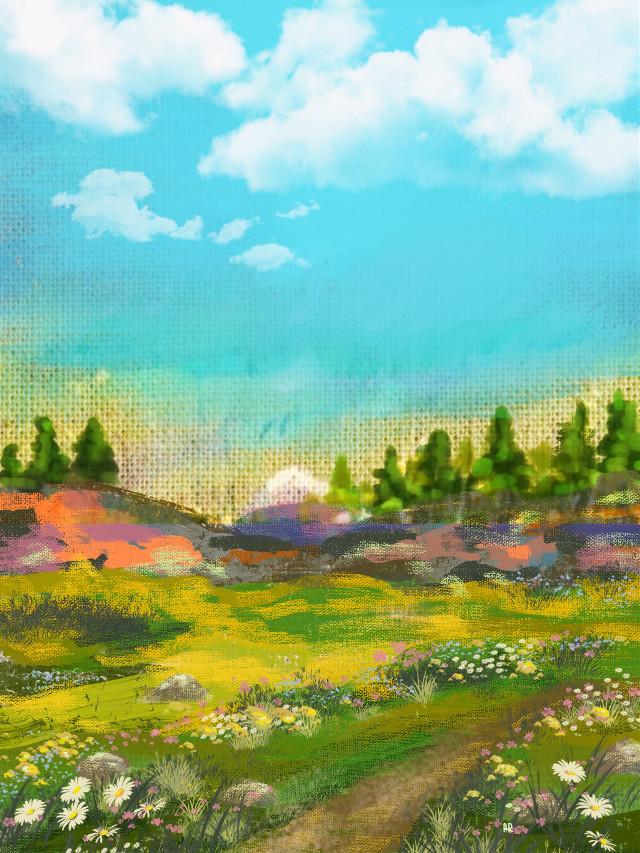 #freetoedit #picsart #wallpaper #background #landscape #mydrawing #mypainting #remix
