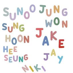 sunoo niki jake jay jungwon heesung sunghoon freetoedit