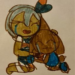 bea hitmontop beapokemon hitmontoppokemon sad crying hug