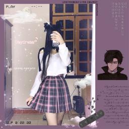 anime cloud daydream chinese neko freetoedit