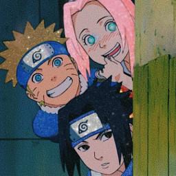 naruto sasuke sakura équipe7 amitié freetoedit