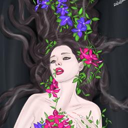 drawing picsart girl nature pain feelings digitaldrawing abyart tamil tamilart