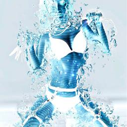 disintegration water ice photography collab art techniko