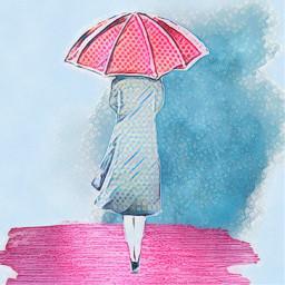 spring umbrella simple freetoedit