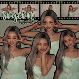 soyeon soyeongidle gidle kpop korea simple hwaa green aesthetic freetoedit