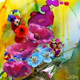 flower picsart digitalart popart modernart abstract fantasyart colorful artisticexpression mydesign myedit remixed freetoedit