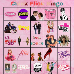chickflicks bingo bingocard mariyahsgames freetoedit