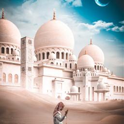 madewithpicsart madebyme picsart instagram islamic muslim mosque allah god zayedgrandmosque sands desert man arab abrabic ramadan ramzanmubarak ramdan_kareem surreal art beautiful men male praying freetoedit