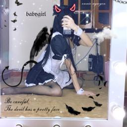 devil wings black freetoedit
