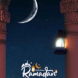 freetoedit ramadan ramadankareem madebyme madewithpicsart surreal message night nightsky