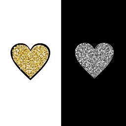 goldandsilver heart freetoedit
