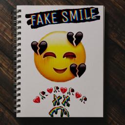 fakesmile brokenheart freetoedit