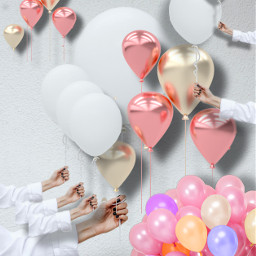 freetoedit balloon balloons white pink ircawhiteballoon