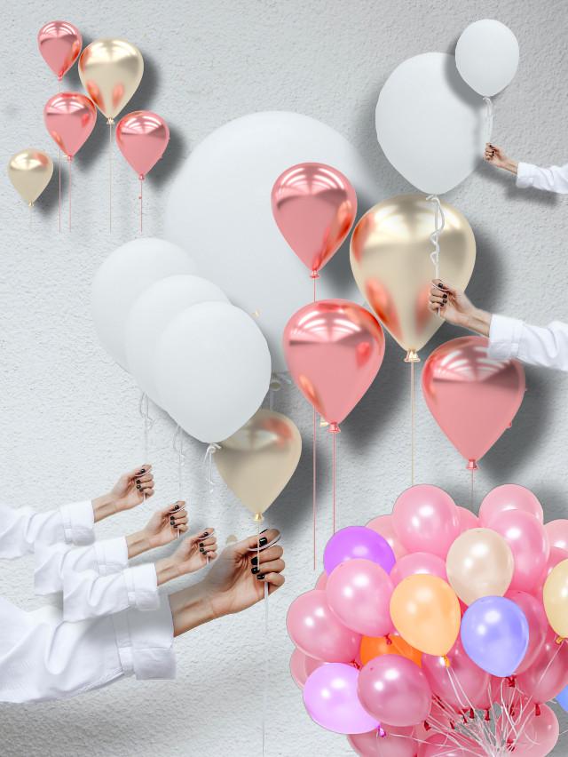 #freetoedit #balloon #balloons #white #pink #pinkrose #artwork  #ircawhiteballoon #awhiteballoon
