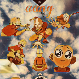 aang avatar avatarthelastairbender appa momo luft air wasser water erde earth feuer fire sweet orange red rot yipyip jipjip anime art animeart animearts freetoedit