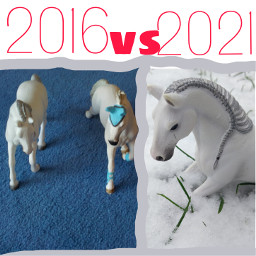 horse schleich oldvsnew comparison lol