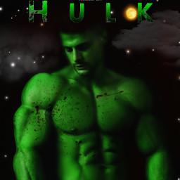hulk concept green textart technikó freetoedit